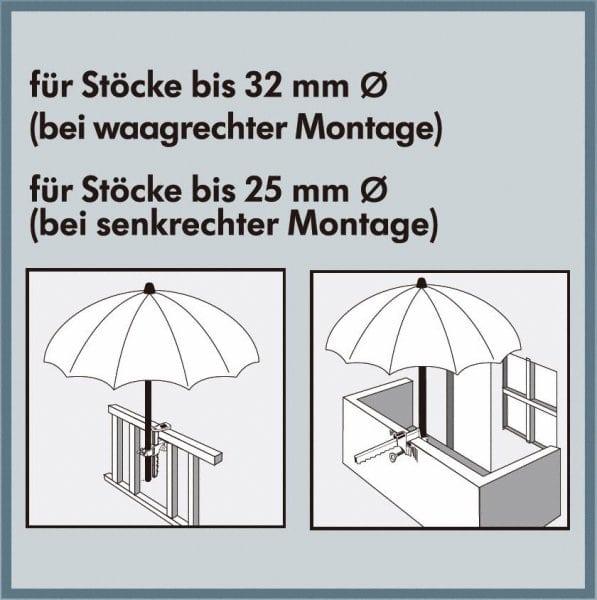 Balkonklammer bis 32 mm - foto 2