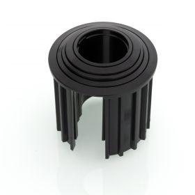 Granitsockel-Reduzierringe Innendurchm. 52,48,38,32,25 mm schwarz, Länge 60mm