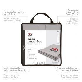 Expert Schutzhülle grau in Tragetasche 250 cm - OHNE STAB / OHNE REISSVERSCHLUSS 250 cm