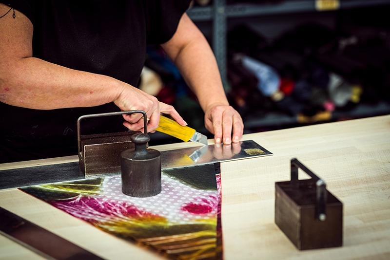 doppler Manufaktur Stoff zuschneiden