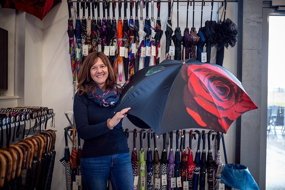Werksverkauf für Regenschirme von doppler